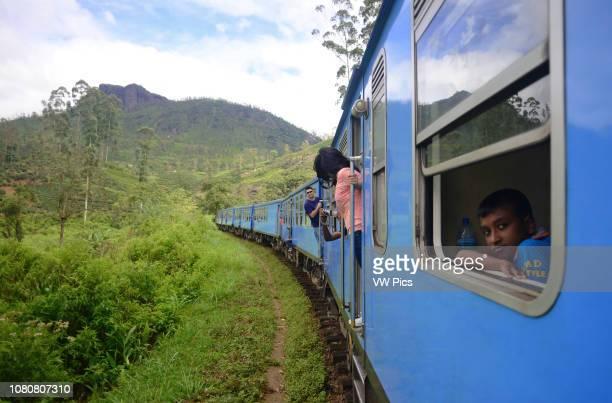Train ride from Kandy to Nuwara Eliya, Sri Lanka.