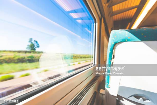train ride - train interior stock photos and pictures
