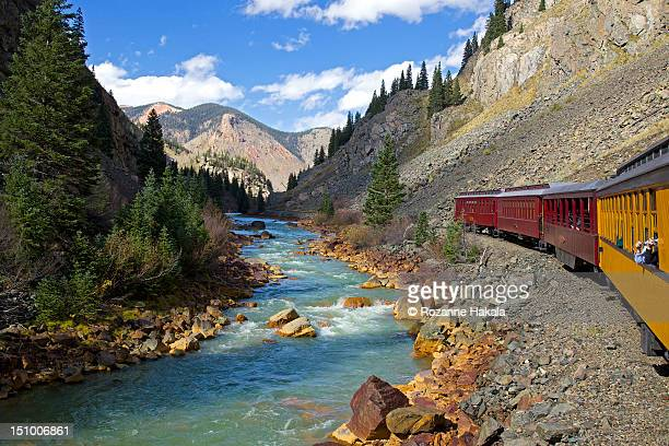 Train ride through Colorado mountains