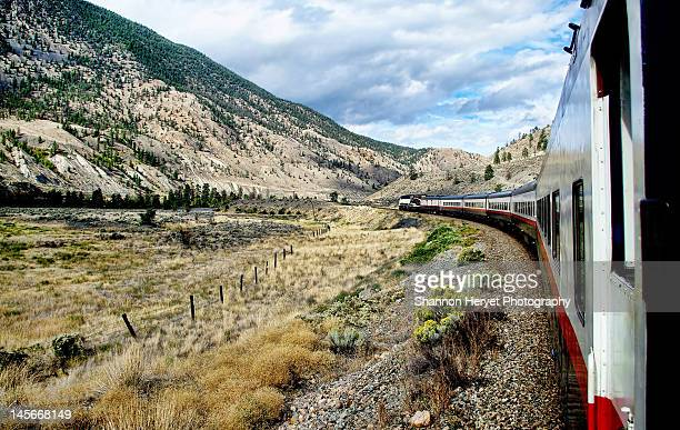 train ride through the mountains - kamloops stock pictures, royalty-free photos & images