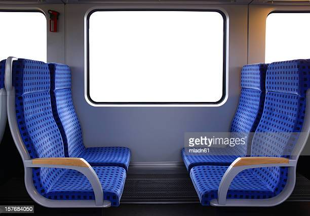 train seats - train stock photos and pictures