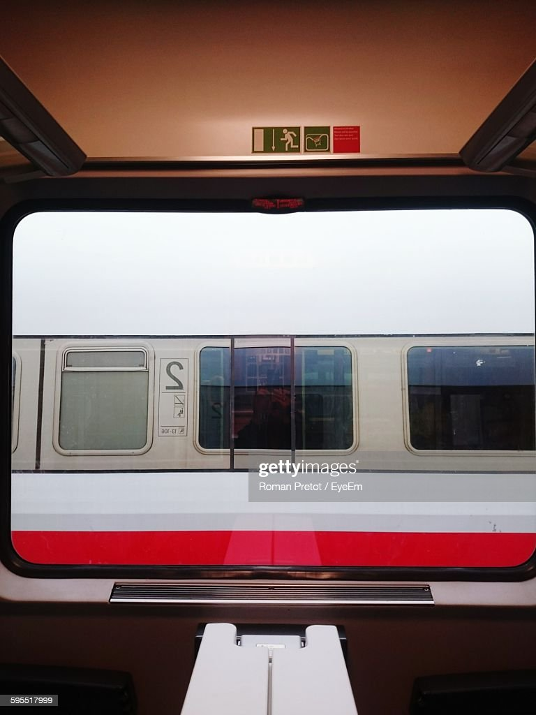 Train Seen From Window : Stock-Foto