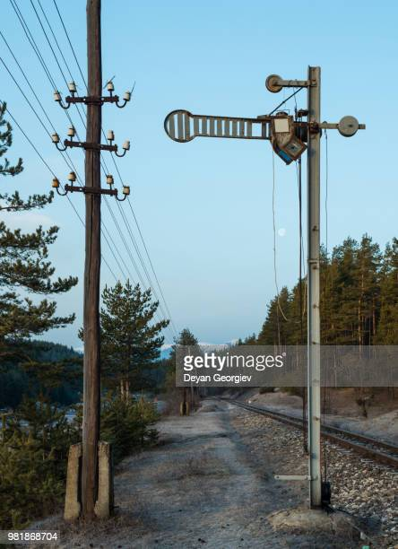 train semaphore - semaphore stock pictures, royalty-free photos & images