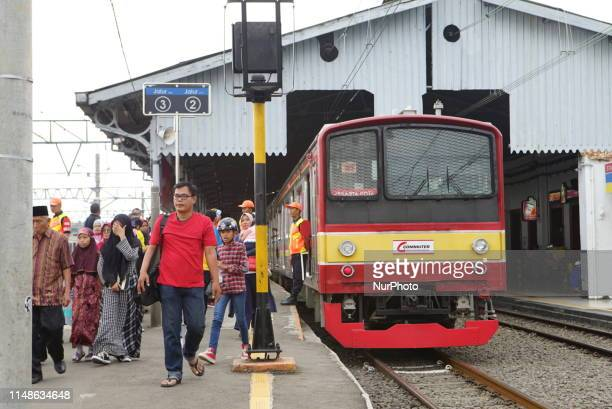 Train service users in Bogor West Java Indonesia Station Friday 7 June 2019 began to look crowded some of them are on vacation and some will return...