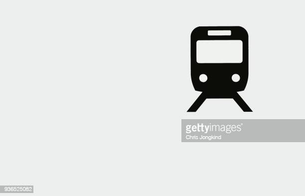 train sign on information board - computer icon stock photos and pictures