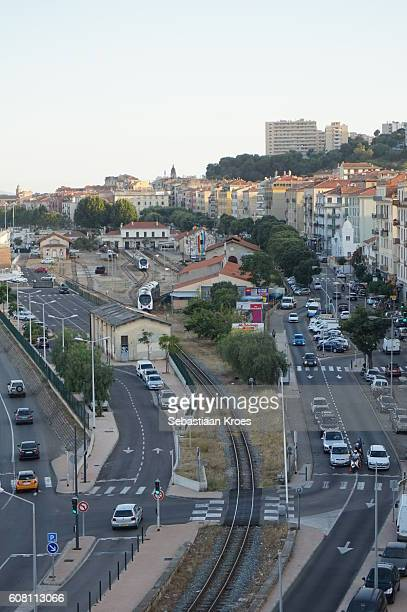 train station and surroundings, ajaccio, france - 2016 stock pictures, royalty-free photos & images