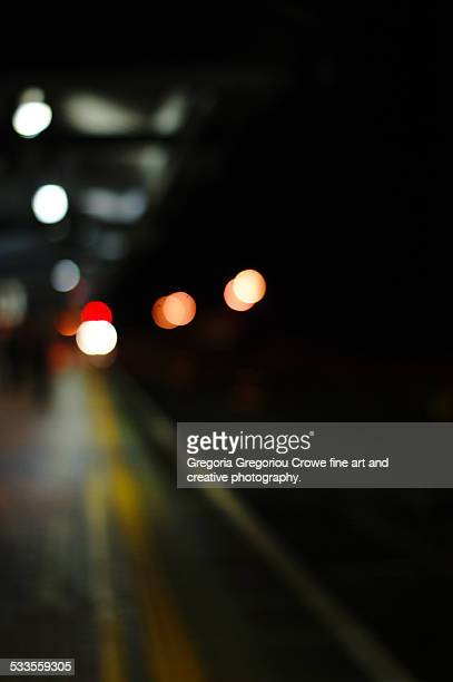 train station at night - gregoria gregoriou crowe fine art and creative photography. stock pictures, royalty-free photos & images