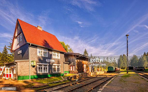 "train station ""bahnhof"" rennsteig - thuringia stock pictures, royalty-free photos & images"