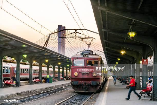 Train Station in Bucharest, Romania, Europe