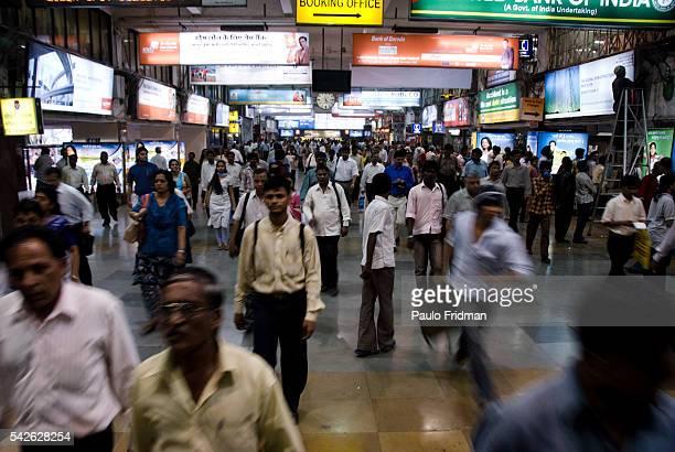 Train station in Mumbai Maharastra India