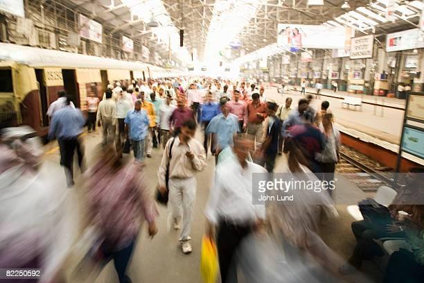 Train station in Mumbai