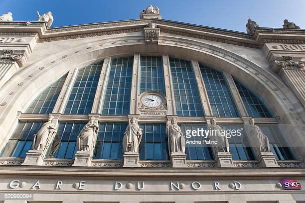 train station in paris - gare du nord stock pictures, royalty-free photos & images