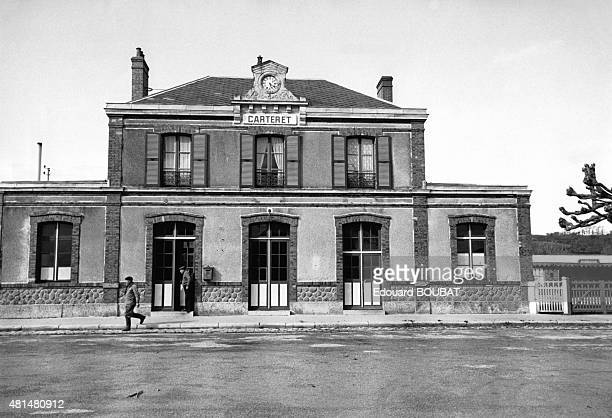 Train station of BarnevilleCarteret Manche France