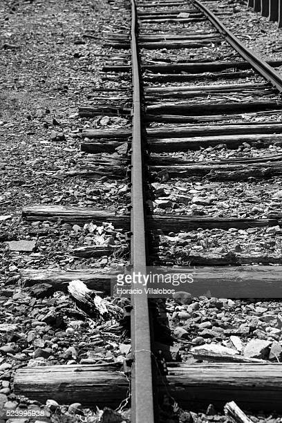 Train station outside Buchenwald concentration camp near Weimar Germany 21 July 2013 In 1943 camp inmates built the 108 km stretch of track between...
