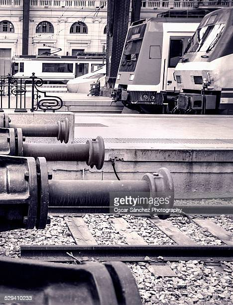 train station - black and white instant print stock pictures, royalty-free photos & images