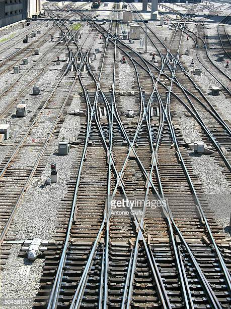 Train station, railway switches