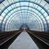 Train station tunnel