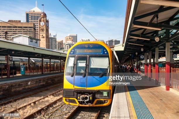 Train to popular regional destination Kiama waits in Sydney Central