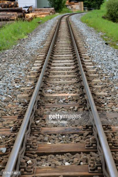 train tracks - puletto diego stock pictures, royalty-free photos & images
