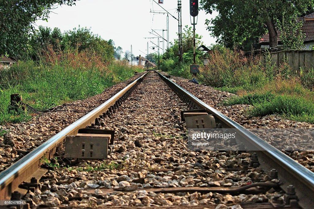 Comboio faixas : Foto de stock