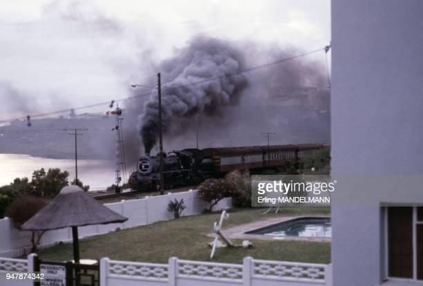 Train à vapeur en Afrique du Sud, en mars 1982.