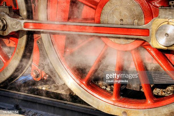 train wheels - locomotive stock photos and pictures