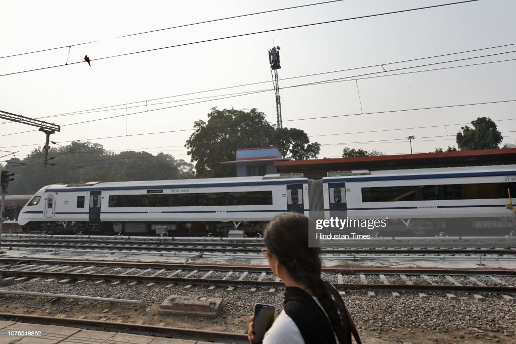 T-18 train which has diffused lighting, automatic doors and