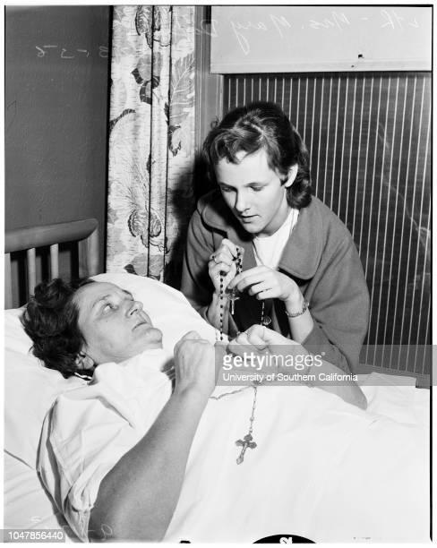 Train wreck victims at Maywood Hospital 23 January 1956 Mrs Mary DixonGloria Dixon Cindy Ferguson 3 1/2 yearsMr Leonard RiefenburgTommy Ferguson 6...
