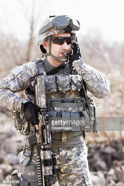 Geschult in Militär Taktiken