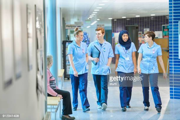 trainee nurse team