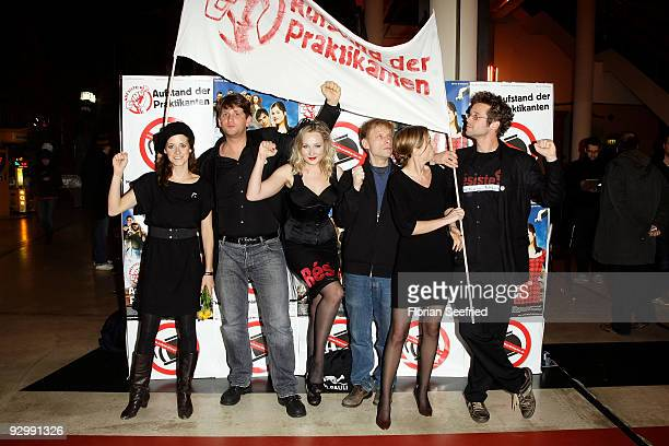 Trainees Actress Verena Mundhenke and actor Sebastian Schwarz and actress Monika Wojtyllo and director Andreas Seifert and actress Fanny Staffa and...