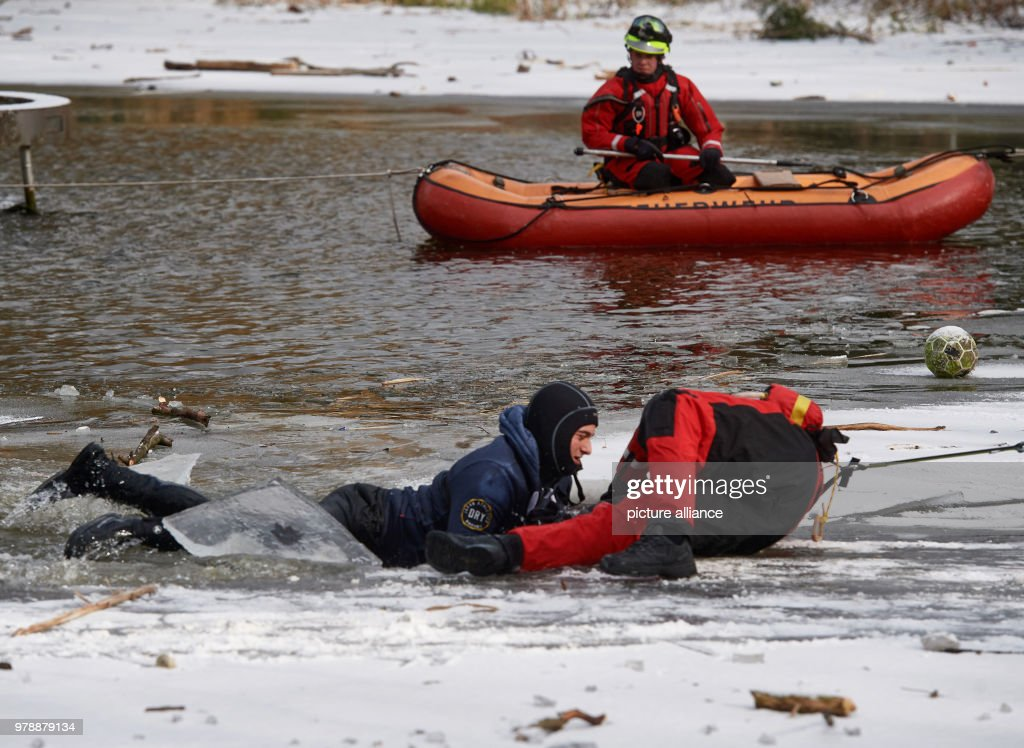 ice rescue training in germany pictures getty images