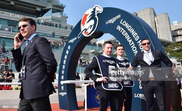 Trainer Aidan O'Brien is seen before Highland Reel won Race 4 The Longines Hong Kong Vase during Longines Hong Kong International Race Day at Sha Tin...