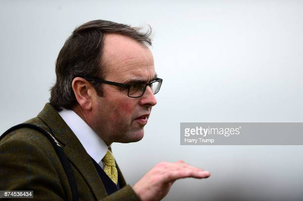 Trainer Alan King at Exeter Racecourse on November 15 2017 in Exeter England