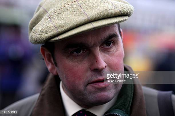 Trainer Alan King at Fontwell Racecourse on January 25 2010 in Fontwell England