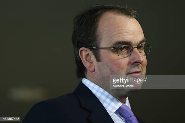 Trainer Alan King during a press conference promoting the Cheltenham Festival at Cheltenham Racecourse on February 25 2015 in Cheltenham England