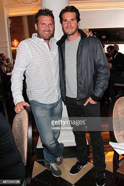 Trainer Alexander Waske and Tommy Haas attend the BMW Open Players Night at Rilano No 6 on April 28 2014 in Munich Germany