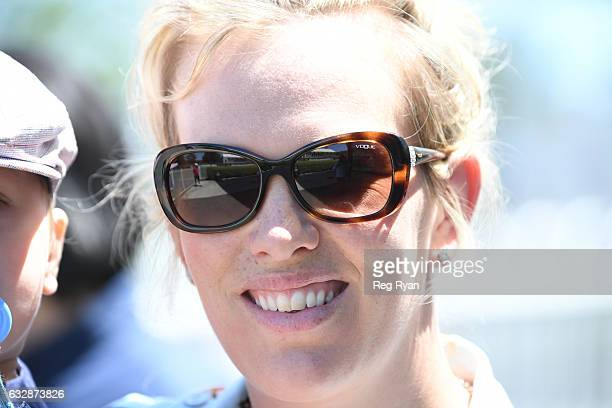 Trainer Amy Johnston after her horse Chasson won Cleanaway Maiden Plate at Mornington Racecourse on January 28 2017 in Mornington Australia