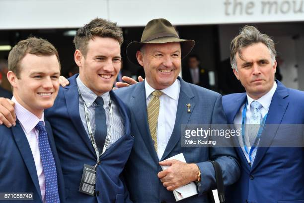 Trainer Ben Hayes with owner Sean Kiernan and trainers David Hayes and Tom Dabernig after Fanatic won the Ronald McDonald House Charities Plate at...