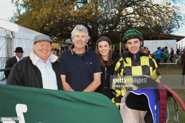 Trainer Bill Cerchi with Declan Bates after his horse Menegatti won the Tasco Petroleum BM58 Handicap at Edenhope Racecourse on June 10 2018 in...