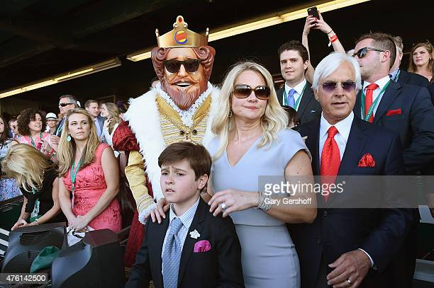 Trainer Bob Baffert and Burger King attend the 147th Belmont Stakes on June 6, 2015 in Elmont City.