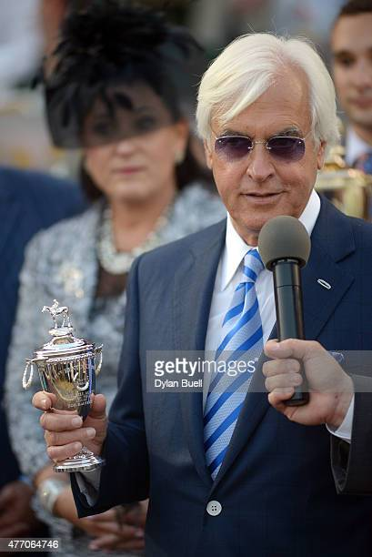 Trainer Bob Baffert makes remarks during a ceremony during Downs After Dark at Churchill Downs on June 13 2015 in Louisville Kentucky