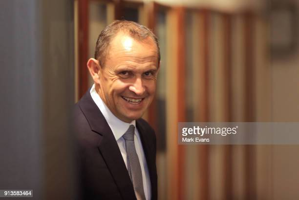 Trainer Chris Waller in the Weighing room during Sydney Racing at Rosehill Gardens on February 3 2018 in Sydney Australia