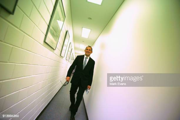 Trainer Chris Waller walks to the Press room during Sydney Racing at Rosehill Gardens on February 3 2018 in Sydney Australia