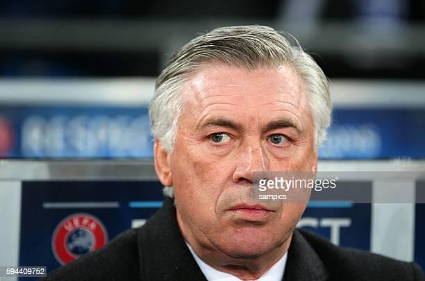 Trainer Coach Carlo Ancelotti Real Madrid Championsleague Fussball FC Schalke 04 gegen Real Madrid 0:2 Saison 2014/ 2015 , neutral, Quer, Kopf, quer,...