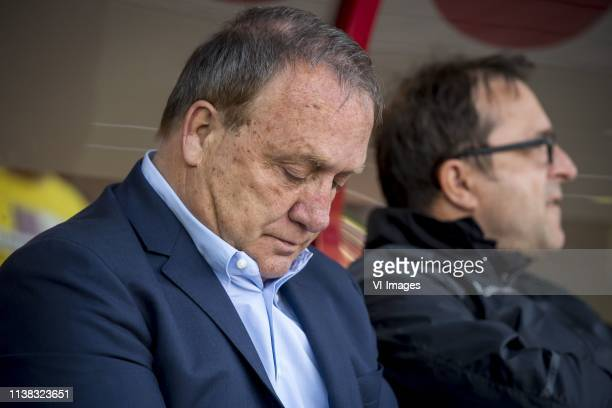 trainer/ coach Dick Advocaat of FC Utrecht assistant coach Zeljko Petrovic of FC Utrecht during the Dutch Eredivisie match between FC Emmen and FC...
