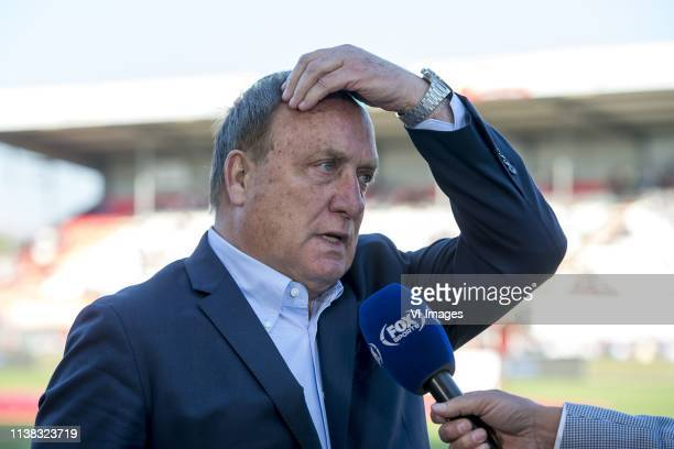 trainer/ coach Dick Advocaat of FC Utrecht during the Dutch Eredivisie match between FC Emmen and FC Utrecht at De Oude Meerdijk on April 20 2019 in...