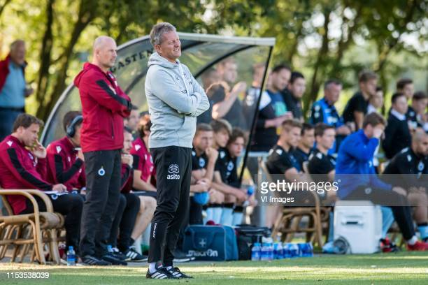 trainer / coach Frank Wormuth of Heracles Almelo during the Preseason Friendly match between Heracles Almelo v Club Brugge at De Veluwse Boys on July...