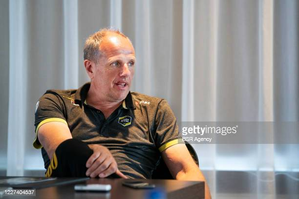 Trainer coach Jac Orie of Jumbo Visma seen during a meeting with the press on May 27 2020 in Wolvega The Netherlands