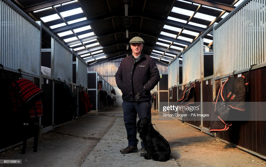 Trainer Colin Tizzard poses for a photo during the stable visit to Colin Tizzard's yard at Milborne Port, Somerset.